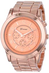 "Geneva Women's 2365-rosegold-GEN  ""Boyfriend"" Watch"