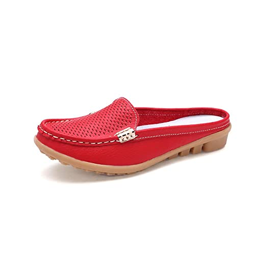 Amazon.com: Gaatpot Mocasines de mujer zapatos de cuero ...