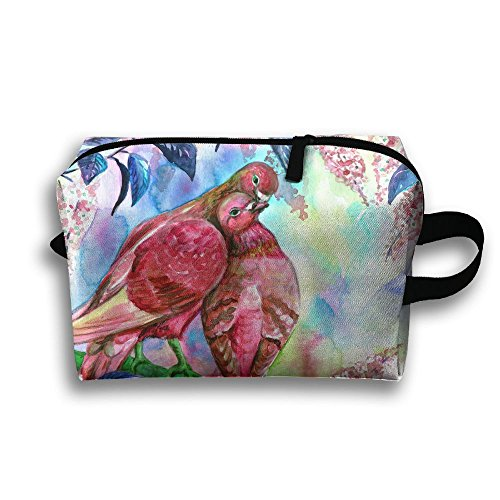 LEIJGS Couple Doves Kissing Small Travel Toiletry Bag Super Light Toiletry Organizer For Overnight Trip Bag by LEIJGS