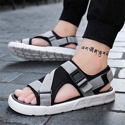 Gris Tamaño Al Gris Antideslizante Eu 1 color Playa 41 Sandalias Hombres Transpirables Sandalia Aire Zapatos De Cuero 3 Para Libre OHnEq0w6