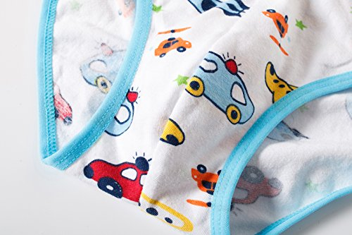 BOBO Kids Little Boys Car Briefs Underwear Toddler (Pack Of 6) Size 7-8 by BOBO Kids (Image #3)