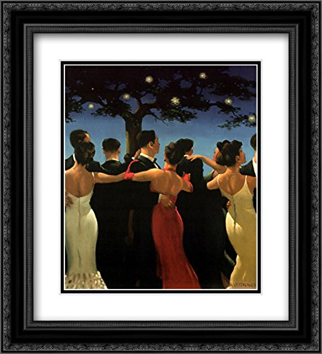 - Waltzers 2X Matted 20x24 Black Ornate Framed Art Print by Jack Vettriano