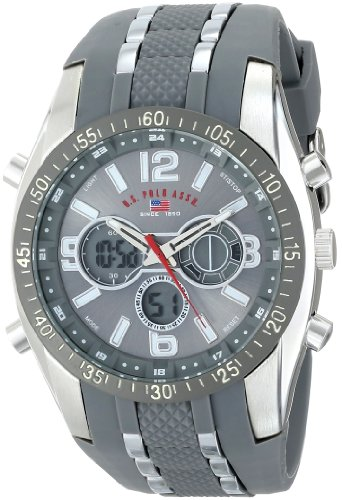 U.S. Polo Assn. Sport Men's US9283 Grey Analog/Digital Chronograph Watch (Chronograph Analog Alarm)