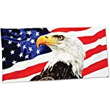 American eagle velour brazilian beach towel 30x60 inches