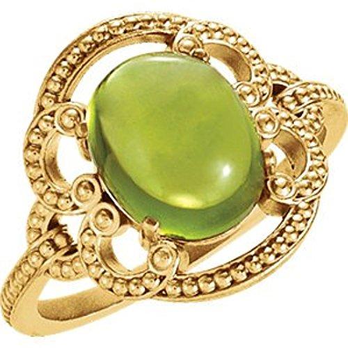 14K Yellow Gold Etruscan Inspired Ring, Size: 6 - Etruscan Yellow Ring