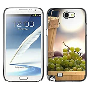 Tony Diy TopCaseStore case cover Hard Cover protective Skin hy4IouHOHak for SAMSUNG GALAXY NOTE 2 / N7100 - Fruit Mint Lemon