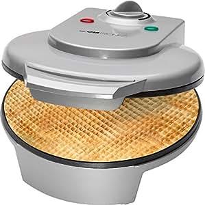 Clatronic HA 3494 - Barquillera máquina de barquillos Y cucuruchos de helados, 1200 W, color plata