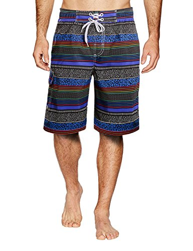APTRO Men's Swimwear Shorts Trunks Surf Board Shorts With Pockets FDSK Blue 1702 35-36 (Hawaiian Shorts Surf)