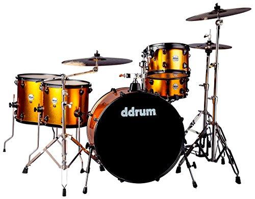 (ddrum J2R 524 BO Piece Drum Set, Blaze Orange)