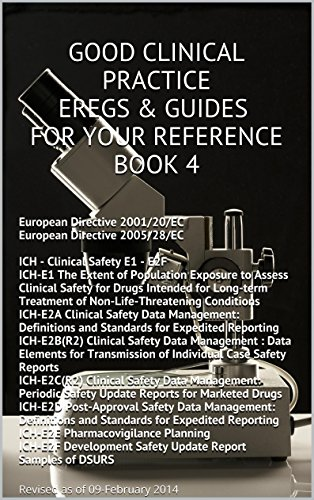 Good Clinical Practice (GCP) eRegs & Guides - For Your Reference Book 4: ICH - Clinical Safety E1 - E2F  &  European Directives