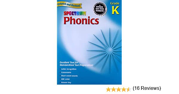 Amazon.com: Spectrum Phonics, Kindergarten (0087577959900): School ...
