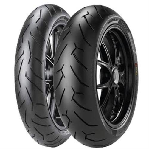 Pirelli Diablo Rosso II Tire - Front - 110/70ZR-17 , Tire Type: Street, Tire Application: Sport, Load Rating: 54, Speed Rating: W, Position: Front, Tire Size: 110/70-17, Rim Size: 17, Tire Construction: Radial 2069900