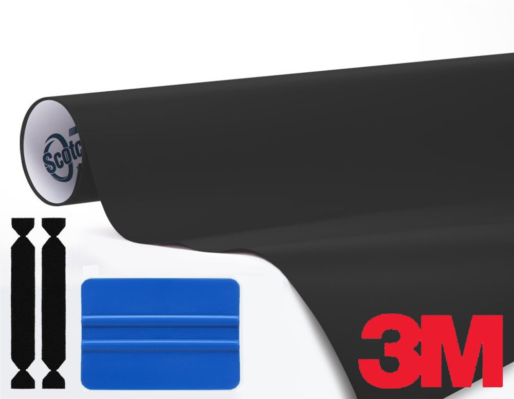 3M 1080 Black Matte 1ft x 5ft Vinyl Car Wrap With 3M Tool Kit