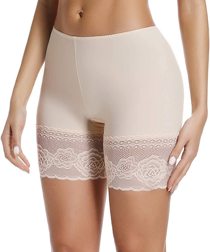 Joyshaper Under Skirt Shorts for Women Under Dress Safety Pants Anti Chafing Lace Trim Ultra Thin Stretch Seamless Boxers Slipshort Knickers Short Leggings Tights Briefs Boyshorts