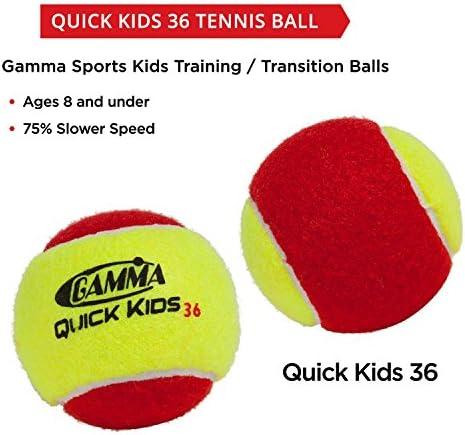 Uwin Bucket of 72 Stage One 25/% Slower Tennis Balls Kids Train Practice Ball