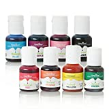 Chefmaster 8 Pack - Natural Food Coloring, Vegan-Friendly Natural Coloring 3.25 oz, Food Coloring in Red, Orange, Yellow, Green, Blue, Purple, Pink, Black, Assorted Food Coloring for Decorating
