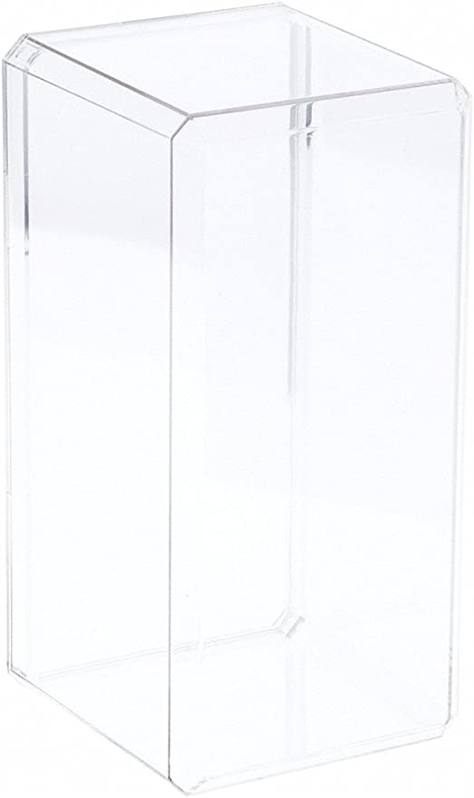 """With Beveled Edge 4.375/"""" x 4.125/"""" x 9/"""" Clear Acrylic Display Case"""
