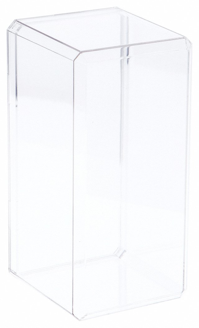 Clear Acrylic Display Case With Beveled Edge 4.375 x 4.125 x 9