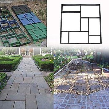 Molde para pavimento, molde de piedra, molde para encofrado, plantilla para hacer uno mismo, para adoquines, cacerolas, caminos de jardín, pavimentos, caminos: Amazon.es: Bricolaje y herramientas