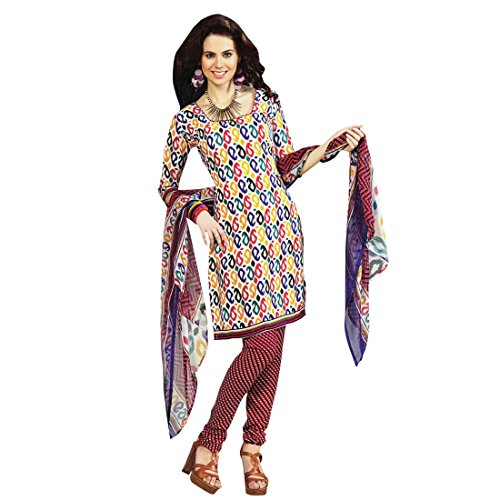 Ready To Wear French Crepe Printed Salwar Kameez Suit Indian Dress
