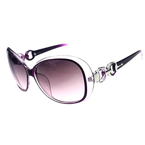 Sombras mujeres de gran tamaño gafas de sol clásico del diseñador de moda de estilo UV400-púrpura