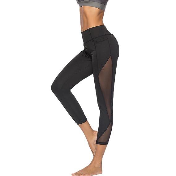 Pantalones Leggings Vestir Deportivos Yoga para Mujer Otoño Invierno 2018 PAOLIAN Pantalones Running Fitness Moda Cintura