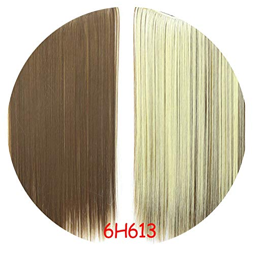 Fish Line Hairpiece Invisible Hair Extensions Secret Silky,#4/27/613,22inches]()