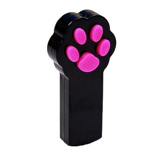 UEETEK Pata estilo gato captura la luz LED interactiva puntero ejercicio Chaser juguete mascota rayar la herramienta de formación(Negro + Blanco): ...