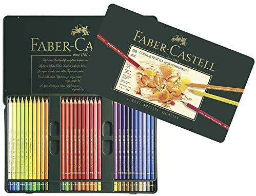 FABER-CASTELL - Lápices de colores (policromo, 36 unidades, estuche de metal): Amazon.es: Oficina y papelería