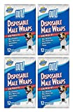 OUT! 12 Count Disposable Male Wraps, Medium - 4 Packs! (4 Pack)