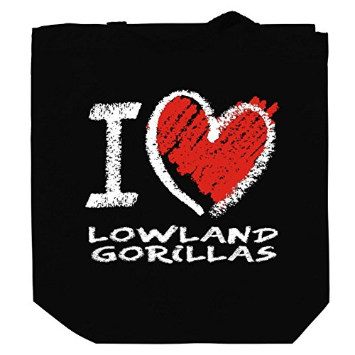 I love Lowland Gorilla chalk style Canvas Tote Bag