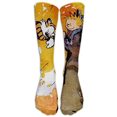 Calvin And Hobbes Costumes Ideas (Calvin And Hobbes Cotton Thick Long Soccer Socks For Men And Women - Running & Fitness - Best Medical, Nursing, Travel & Flight Socks)