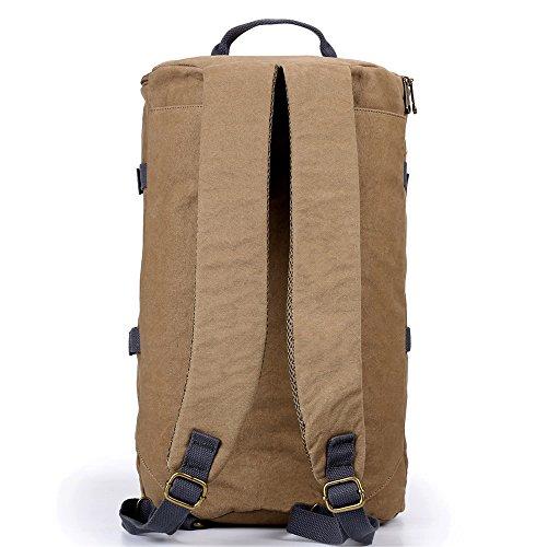 3in 1Carvas Trekking Zaini e borse per uomini e donne con canna alta capacità borsa da uslion