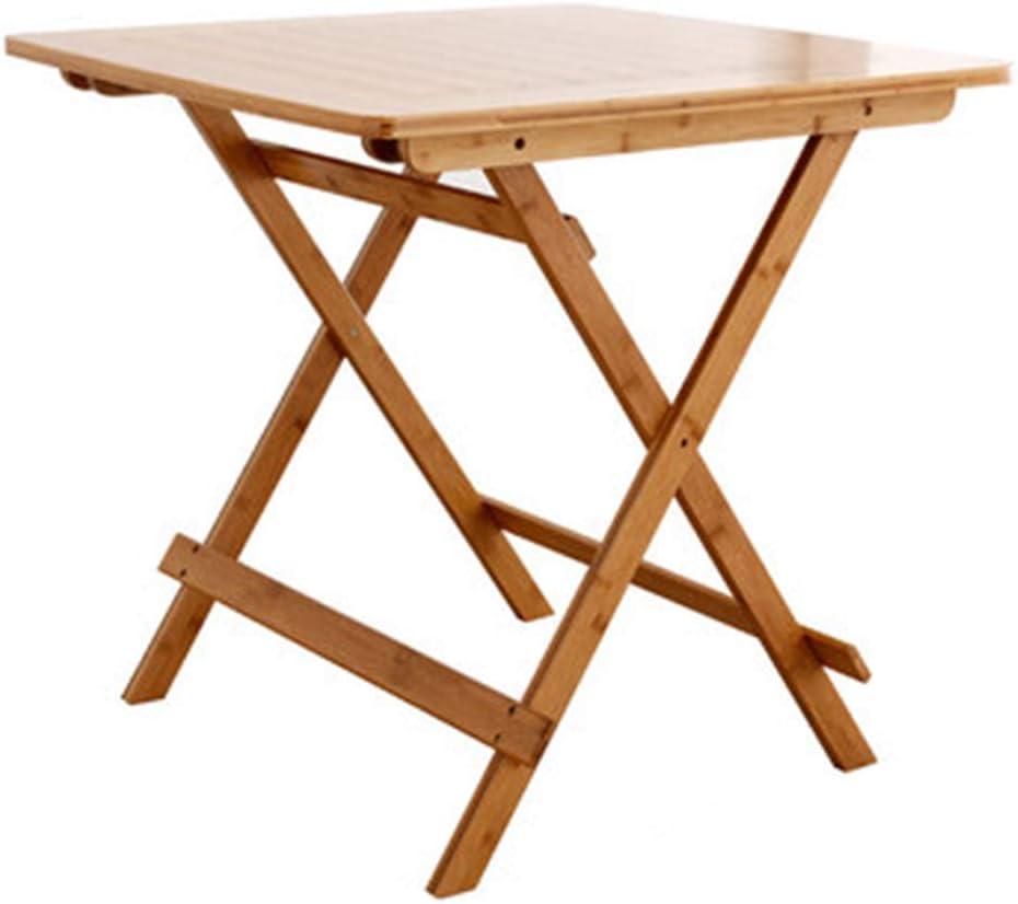 高品質竹スクエア折りたたみテーブル、ポータブルピクニック折りたたみテーブル、ソリッドウッド屋外コーヒーサイドテーブル折りたたみスクエアパティオデッキガーデン