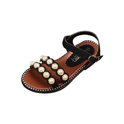 e6f0acf2b145f HUHU833 Summer Infant Kids Girls Pearl Beach Princess Casual Sandals - for 3 -9 Years