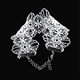 LANWF Lace Chain Necklace Punk Choker Elastic Necklaces Bracelet Jewelry Clothing Accessories,White