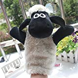 Gold Happy Kids Lovely Animal Plush Hand Puppets Childhood Soft Toy Sheep Shape Story Pretend Playing Dolls Gift For Children