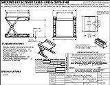 Vestil EHLTG-5270-2-48 Ground Lift Scissor
