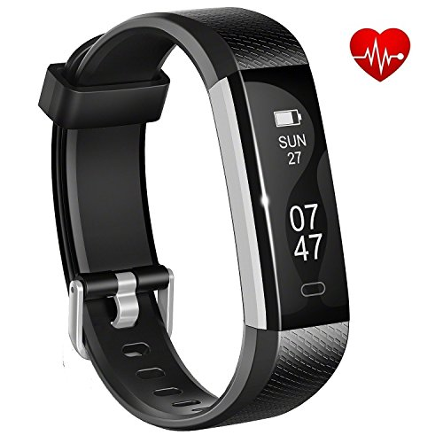 Fitness tracker with heart rate monitor, Joyzy J2 Plus Waterproof Activity Tracker, Bluetooth Smart Wristband, Sleep Monitor Steps Counter Watch, Touch Screen for Android 4.4 and Ios7.1 above