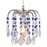LivEditor Modern Chandelier Crystal Ligthing Pendant Lighting For HallWay Kitchen Kids Room (Y4060-WLM) For Sale