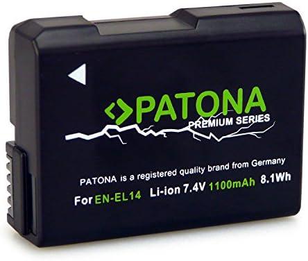 Batería Patona EN-EL14 Premium Infochip para Nikon D5200 D5300 D5500