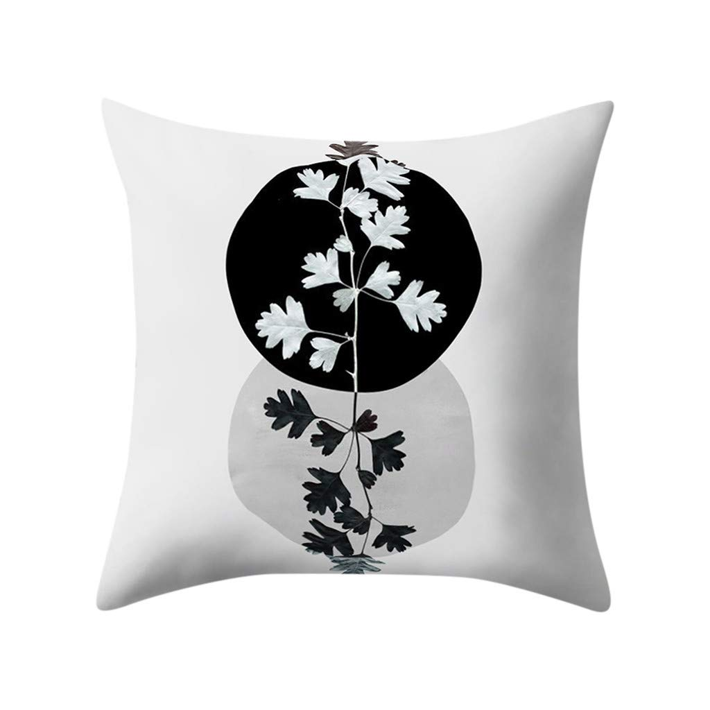 Weiliru Pillowcase Sofa Manual Hand Painted Colorful Geometric Pattern Printed Pillow Cover,45cmx45cm(18×18Inch)
