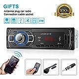 Car Stereo Bluetooth OCDAY MP3 Player Single Din Wireless Remote Control Receivers,USB/SD/AUX /FM Receiver BT Handsfree Car Radio 4x60W