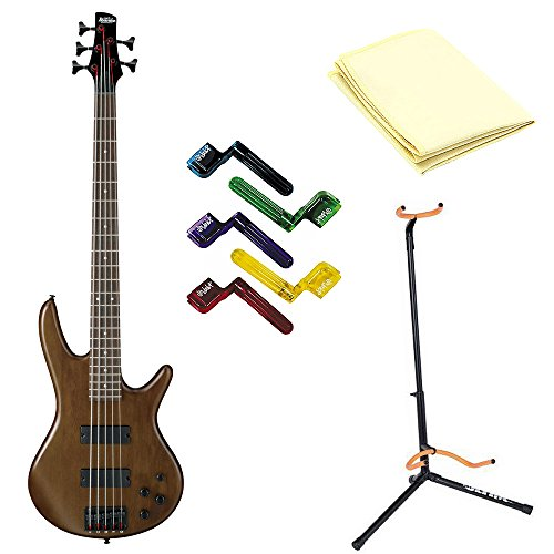 Ibanez GSR205BWNF 5-String Electric Bass with Polishing Cloth, Stand and Peg winders
