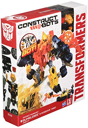 Transformers Age of Extinction Construct-Bots Dinobot Warriors Bumblebee and Nosedive Dino Buildable Action (Transformers Age Of Extinction Bumblebee Toy)