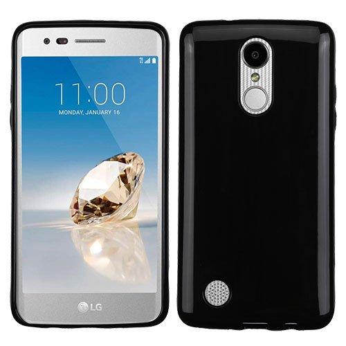 ShopAegis - [FLEXIBLE TRANSPARENT] [Jet Black] Glossy Candy Skin Durable Thin TPU Gummy Phone Cover Case for LG [V3][ARISTO][K8 2017 ][PHOENIX 3][FORTUNE][K4 2017 ][REBEL ()