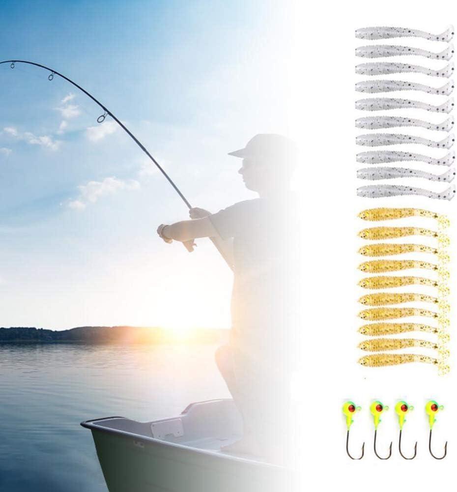 Etophigh 120 st/ücke K/ünstliche K/öder Kit Wiederverwendbare Weiche Angelk/öder Forelle Wobbler f/ür Spin Fishing,Mini Wobbler f/ür Forelle Angeln,Forelle K/öder f/ür Spin Fishing