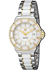 TAG Heuer Womens WAH1221.BB0865 Formula 1 Two-Tone Bracelet Watch with White Ceramic and Diamonds