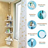 Alice Adjust Corner Shower Caddy Bathroom Constant Tension Pole Rustproof Rack