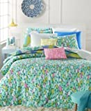 Whim by Martha Stewart Collection Impressions 5-Pc. King Duvet Set Mint/Pink